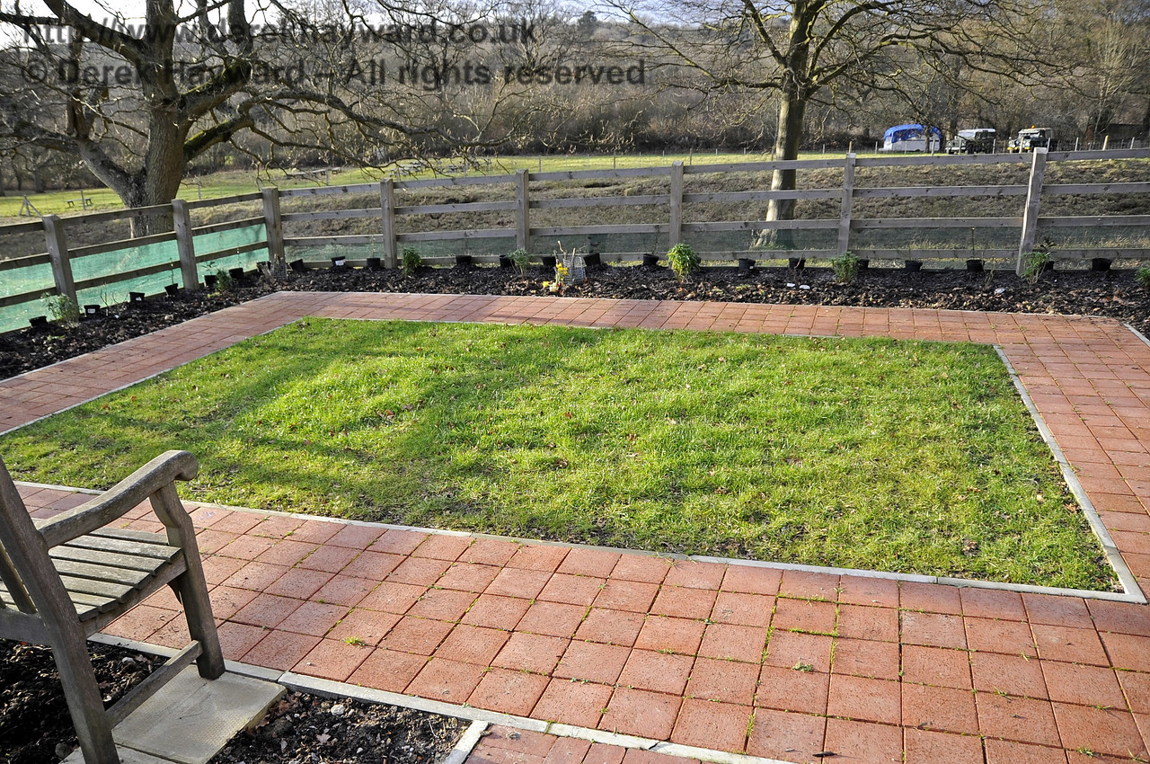The memorial garden lawn pictured on 21.01.2012.  The lawn is now recovering from drought damage in 2011.  3503