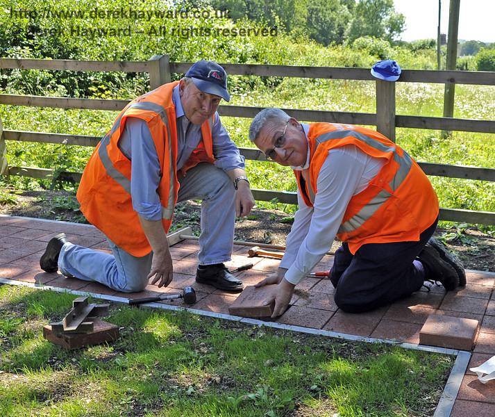 Installing a memorial plaque.  26.06.2011  2056