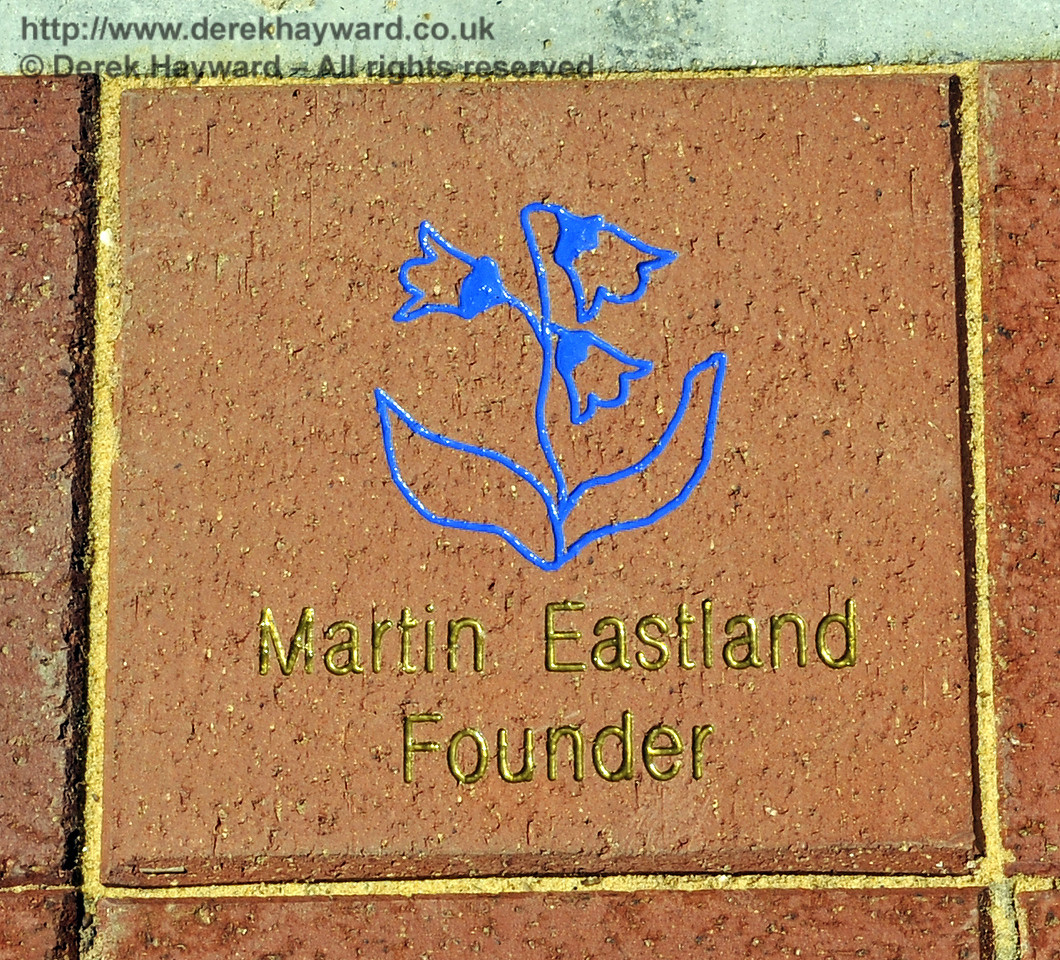 The memorial paving block remembering Martin Eastland, a Founder Member of the BRPS.  26.06.2011 2046