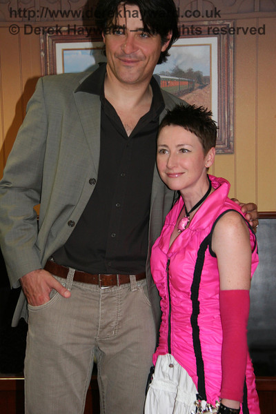 Anna-Marie of Bussroot with actor Goran Visnjic from the series ER at the opening ceremony. 16.07.2008