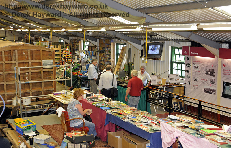Inside the Carriage and Wagon Works.  Model Railway Weekend, Horsted Keynes, 30.06.2013  9358
