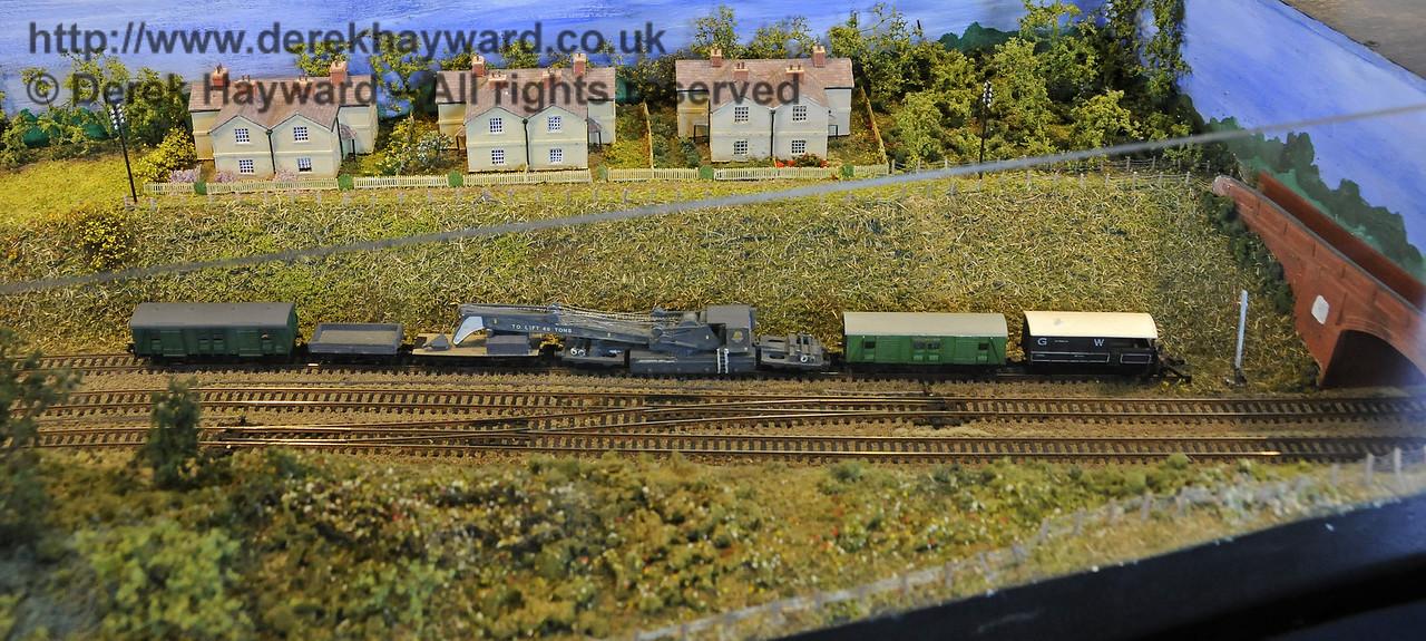 Horsted Keynes Station cottages, looking west.  Model Railway Weekend, Horsted Keynes, 30.06.2013  9265