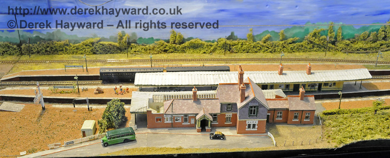 Horsted Keynes Station, looking west.  Model Railway Weekend, Horsted Keynes, 30.06.2013  9266