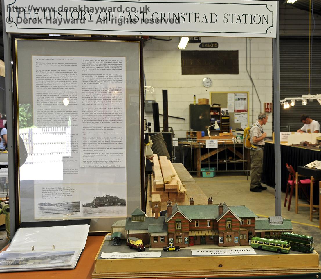The History of East Grinstead Station.  Model Railway Weekend, Horsted Keynes, 30.06.2013  9333