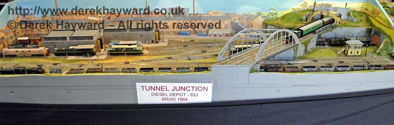 Tunnel Junction Diesel Depot, 1964.  Model Railway Weekend, Horsted Keynes, 30.06.2013  9327