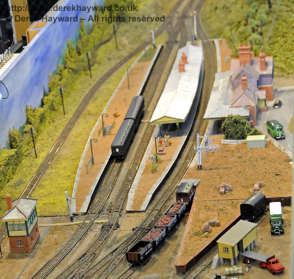 Horsted Keynes Station, looking north.  Model Railway Weekend, Horsted Keynes, 30.06.2013  9262