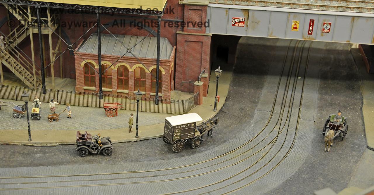 Brighton Road circa 1912.  Model Railway Weekend, Horsted Keynes, 30.06.2013  9320