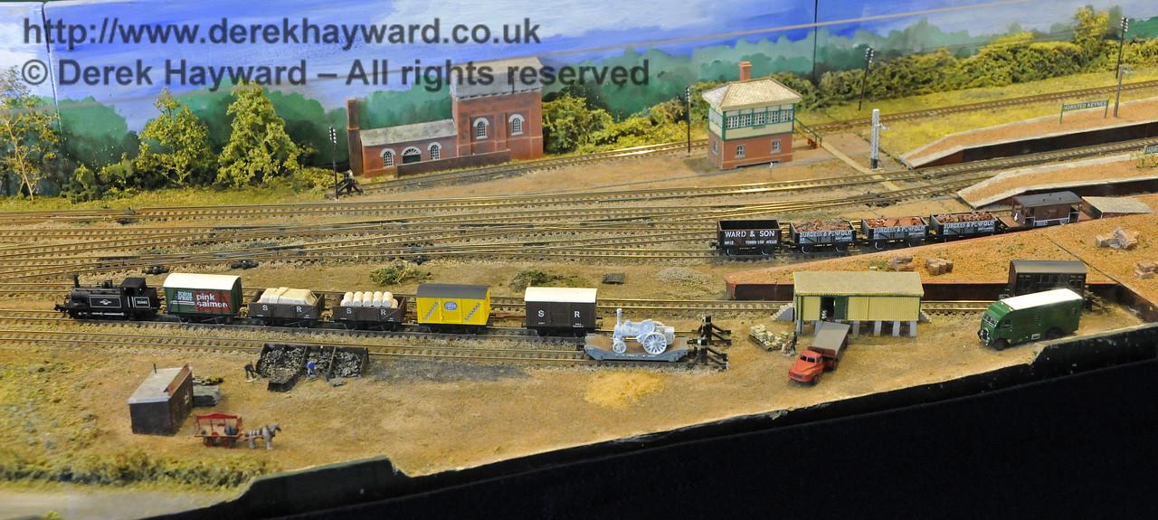 Horsted Keynes Station, looking west.  Model Railway Weekend, Horsted Keynes, 30.06.2013  9258