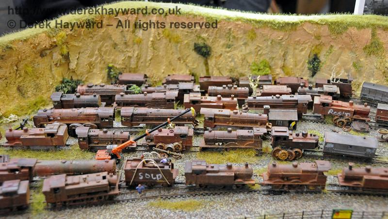 The scrap yard.  Model Railway Weekend, Horsted Keynes, 28.06.2014  10870