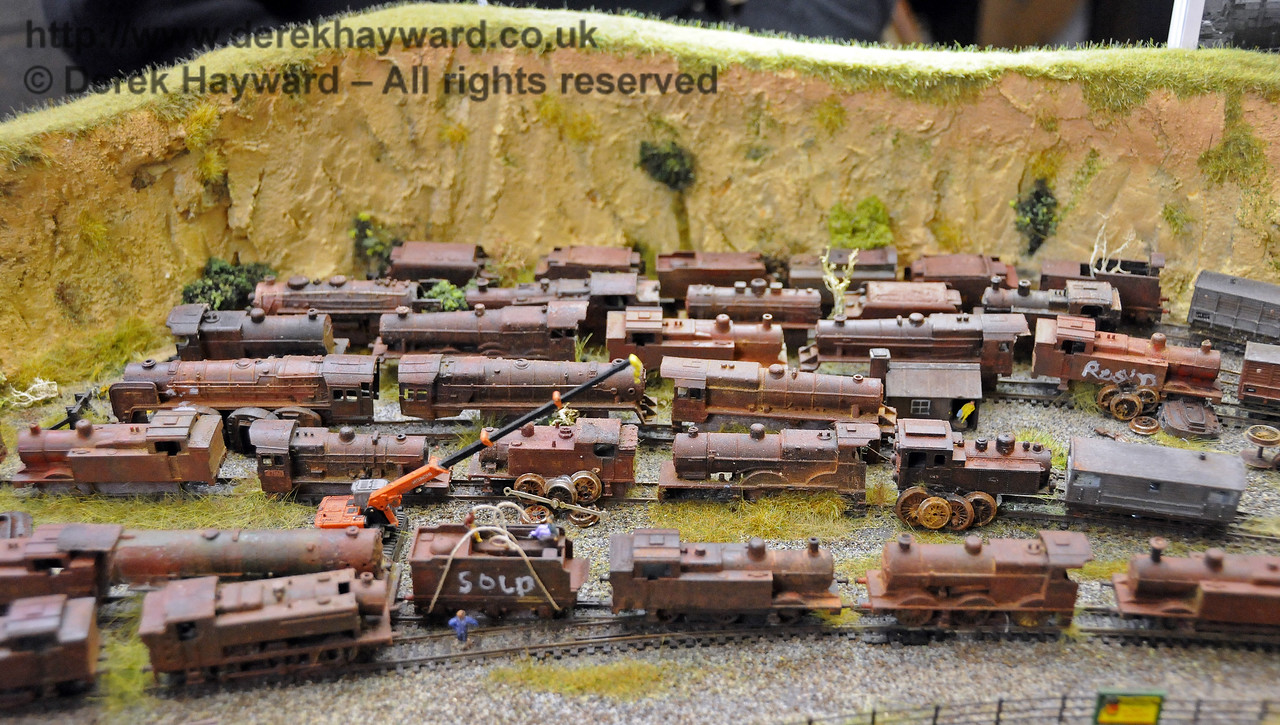 The scrap yard.  Model Railway Weekend, Horsted Keynes, 28.06.2014  10870
