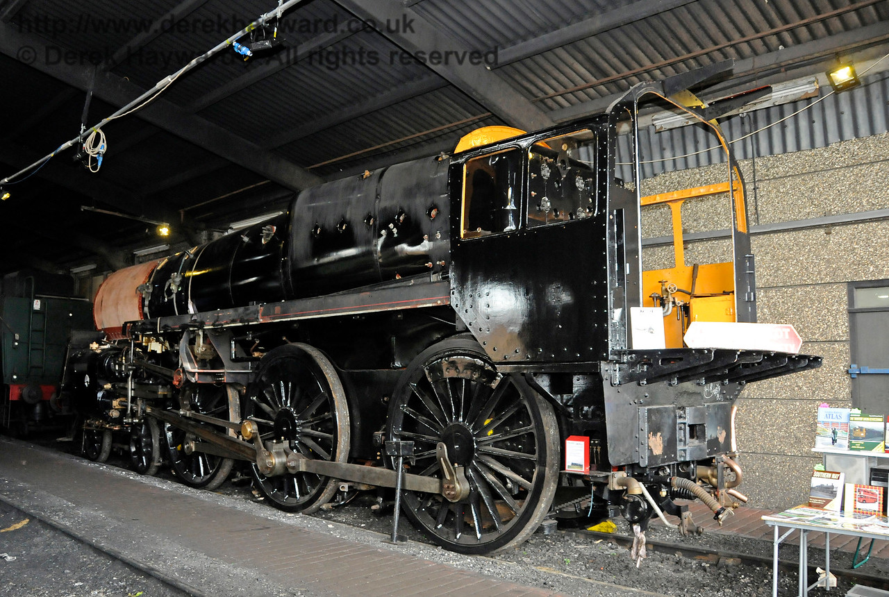 73082 Camelot (the larger version) in Sheffield Park running shed.  27.06.2015  13132
