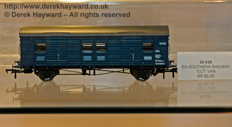 Bachmann were featuring their Ex-Southern railway CCT Van in BR Blue.  Model Railway Weekend, Horsted Keynes.  27.06.2015  13072