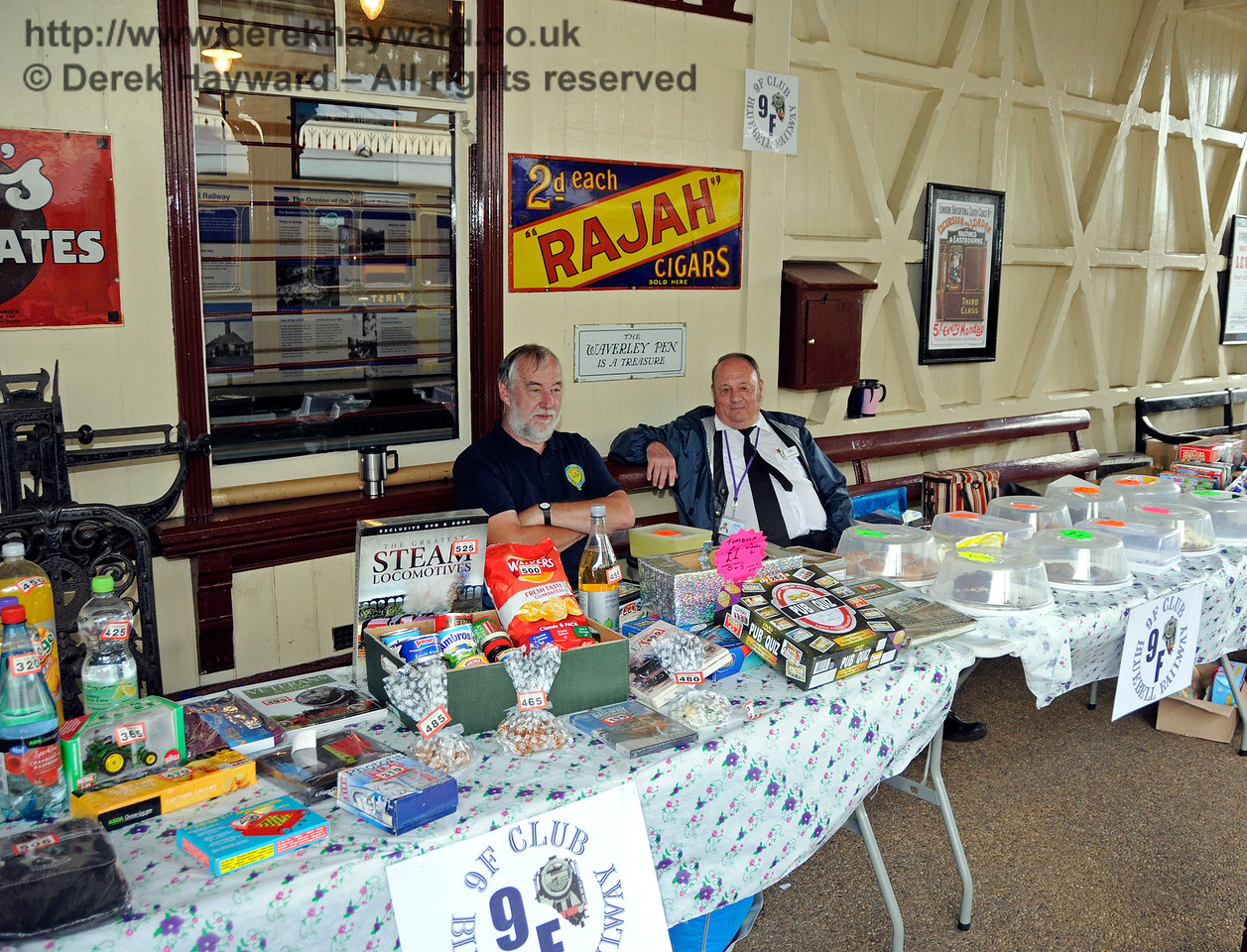 The 9F Club stand, Model Railway Weekend, Sheffield Park.  27.06.2015  13145
