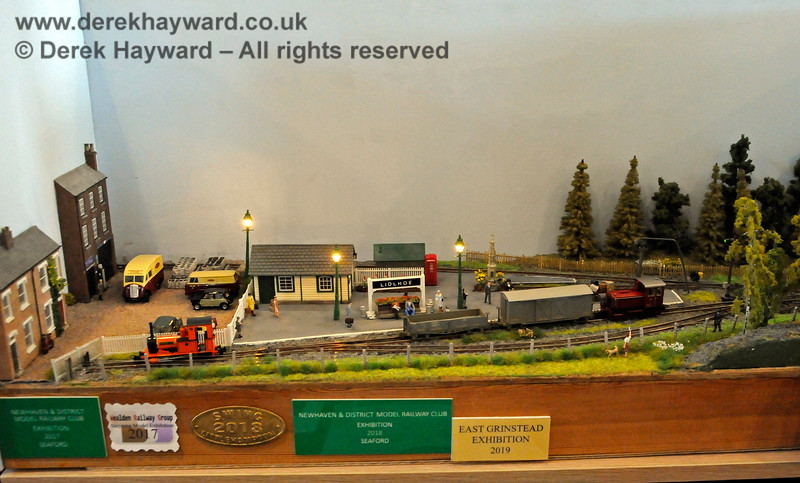 The lights are on as the evening draws in.  Model Railway Weekend, Sheffield Park, 29.06.2019 19532