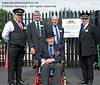 The late Bernard Holden MBE, President BRPS, visited East Grinstead on 05.09.2010 to inspect the works.  He posed with Tim Baker, Commercial Director, Bill Brophy, Vice President BRPS, Sam Bee Vice Chairman BRPS, and Roy Watts, Chairman BRPS.  4624