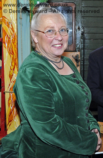 Julia from Customer Services in period costume at the Santa event.  Horsted Keynes 08.12.2012  6003