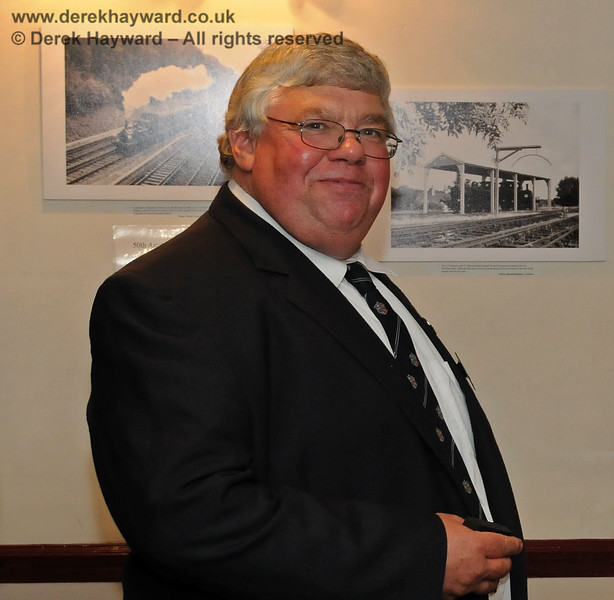 Gavin Bennett, General Secretary, Bluebell Railway Preservation Society, pictured at the presentation of the Queen's Award for Voluntary Service.  Sheffield Park 16.09.2010  4860