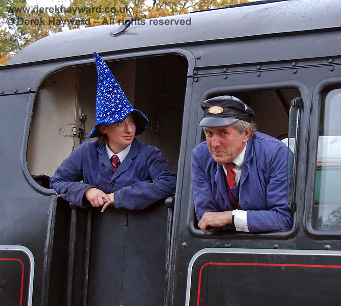 When I joined the railway I never imagined that they would ask me to do this....  Horsted Keynes 25.10.2008