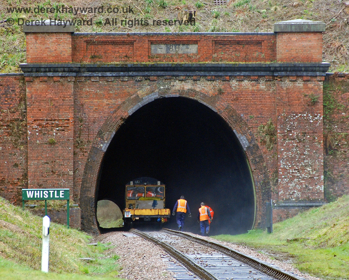 The PWay team enter West Hoathly Tunnel for an inspection.  30.03.2008  See next image....