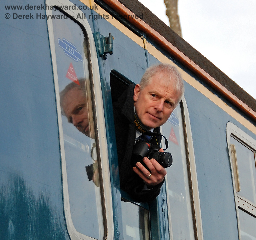 Roy Watts, Chairman BRPS, on board 4-VEP 3417 at East Grinstead.  17.01.2009