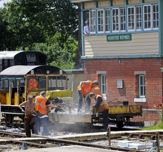 The PWay undertake some work outside Horsted Keynes signal box.  24.07.2011