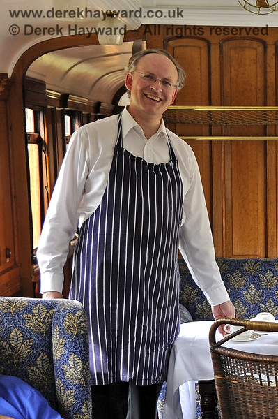 A smiling Richard Salmon in the Director's saloon at Kingscote.  29.08.2011  2827