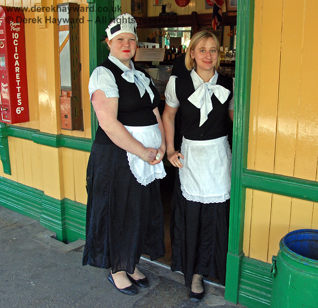 Two charming ladies serving in the Buffet at Horsted Keynes.  09.05.2009