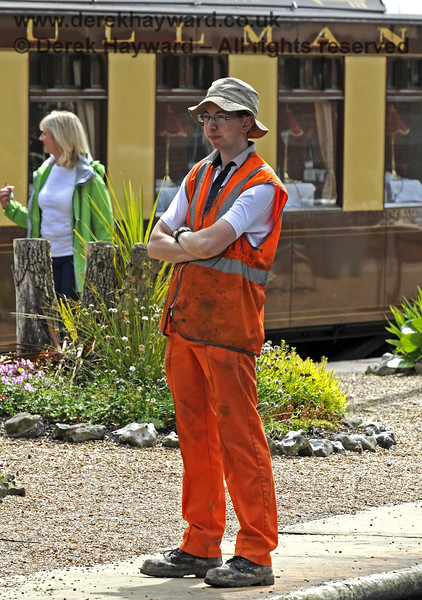 Jon Bowers taking a short break from PWay duties during the Food Fair at Horsted Keynes.  24.06.2012  8189