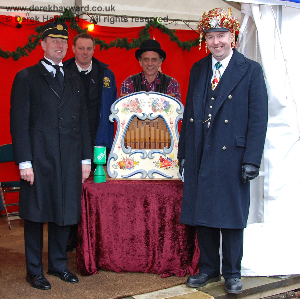 A festive look for some of the team at Sheffield Park during the Santa season.  13.12.2009