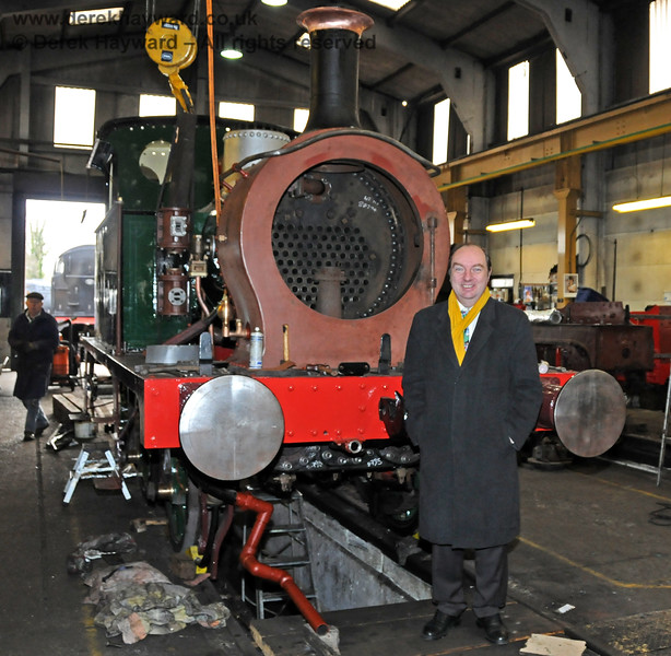 Norman Baker MP during a visit to Sheffield Park Workshops on 13.02.2010.  Since May 2010 Mr Baker has been Parliamentary Under Secretary for the Department for Transport.