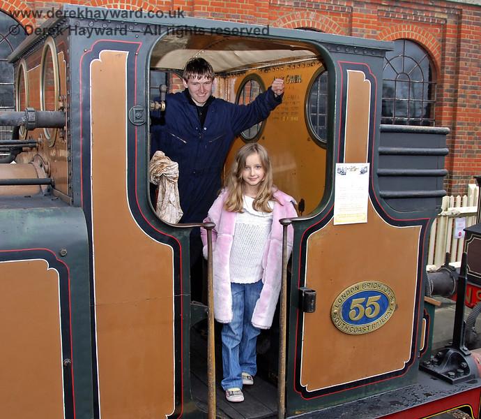 Footplate visits to Stepney during the Santa season.  Sheffield Park 05.12.2009