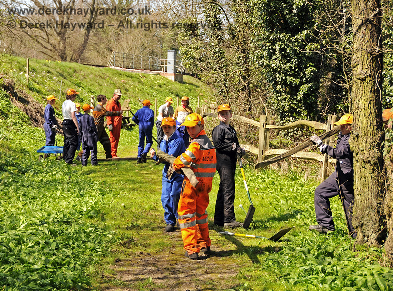 Members of the 9F Club helping (under supervision) to improve the Picnic Area at Sheffield Park,  17.04.2010  1948