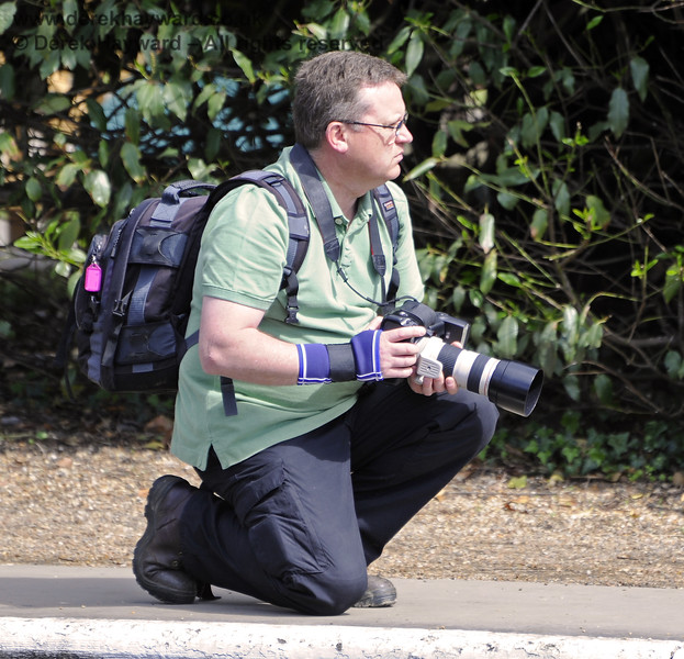 One of Bluebell's most proficient photographers, Paul Pettitt, is caught in action at Horsted Keynes.  08.05.2011  1495