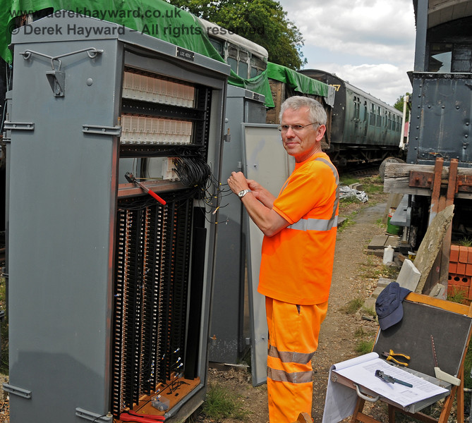 Bill from S&T prepares one of many new apparatus cases at Horsted Keynes.  24.07.2010  3263