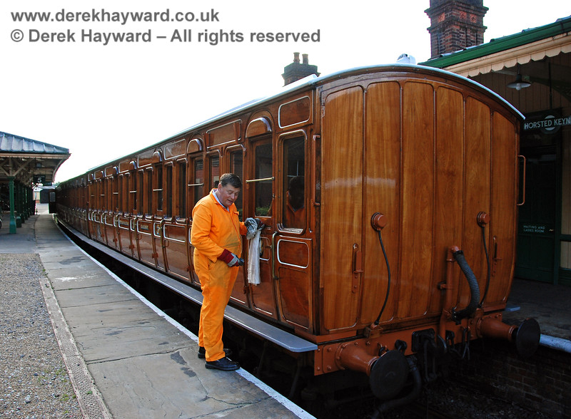 Chris Cooper prepares the Victorian Coaches for their weekend outing.  Horsted Keynes  05.10.2007