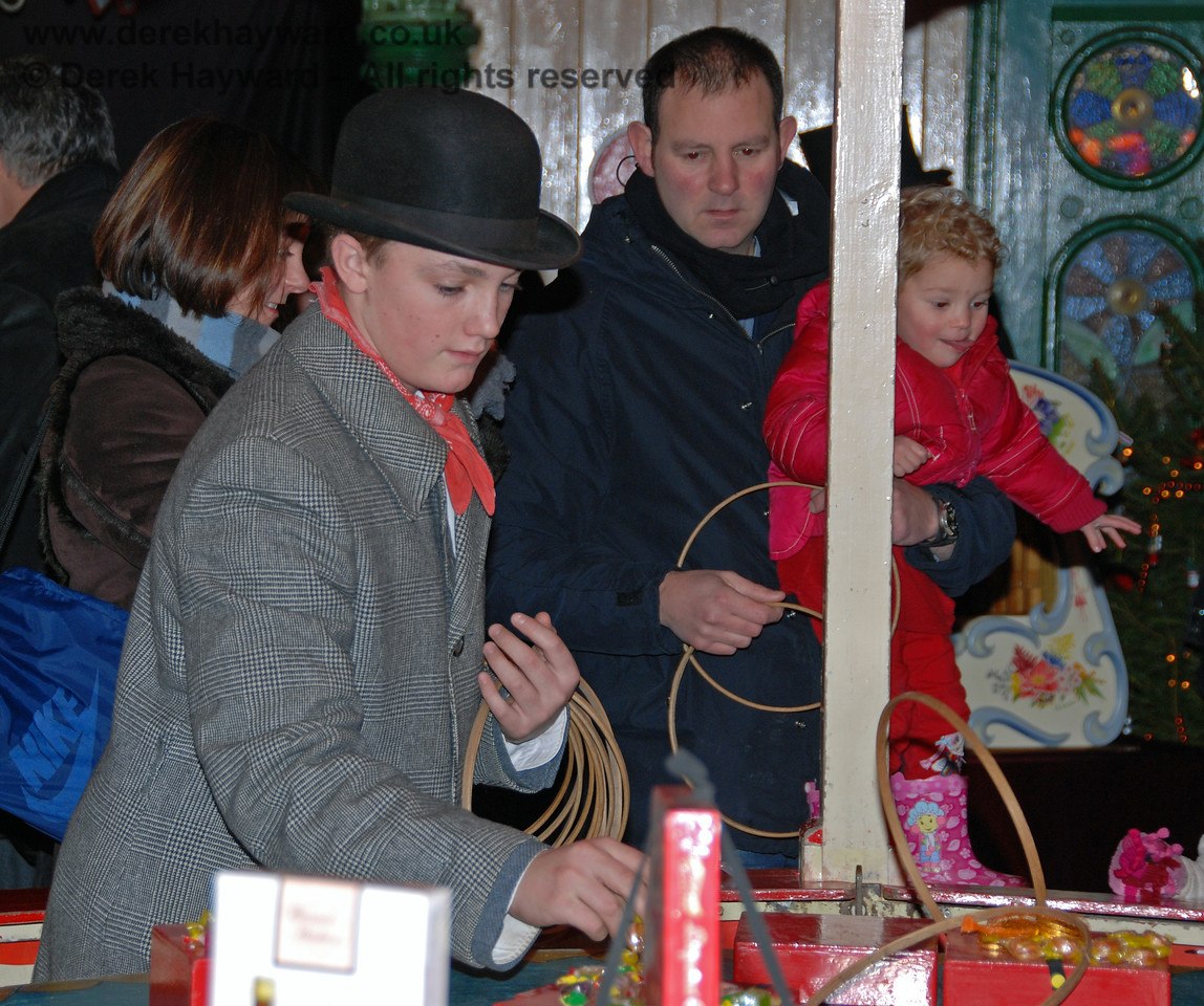 A Victorian Christmas stall at Horsted Keynes.  22.12.2007