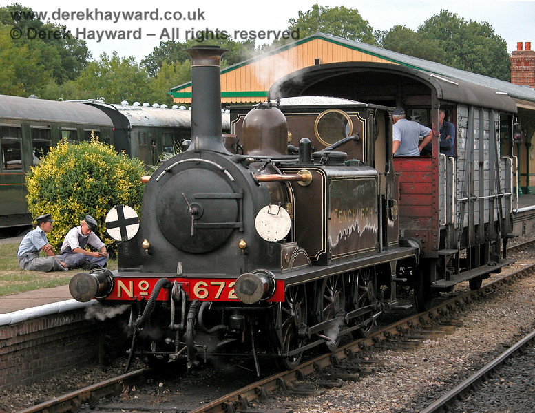 A moment of relaxation during a Footplate Days and Ways course.  Horsted Keynes 29.07.2006