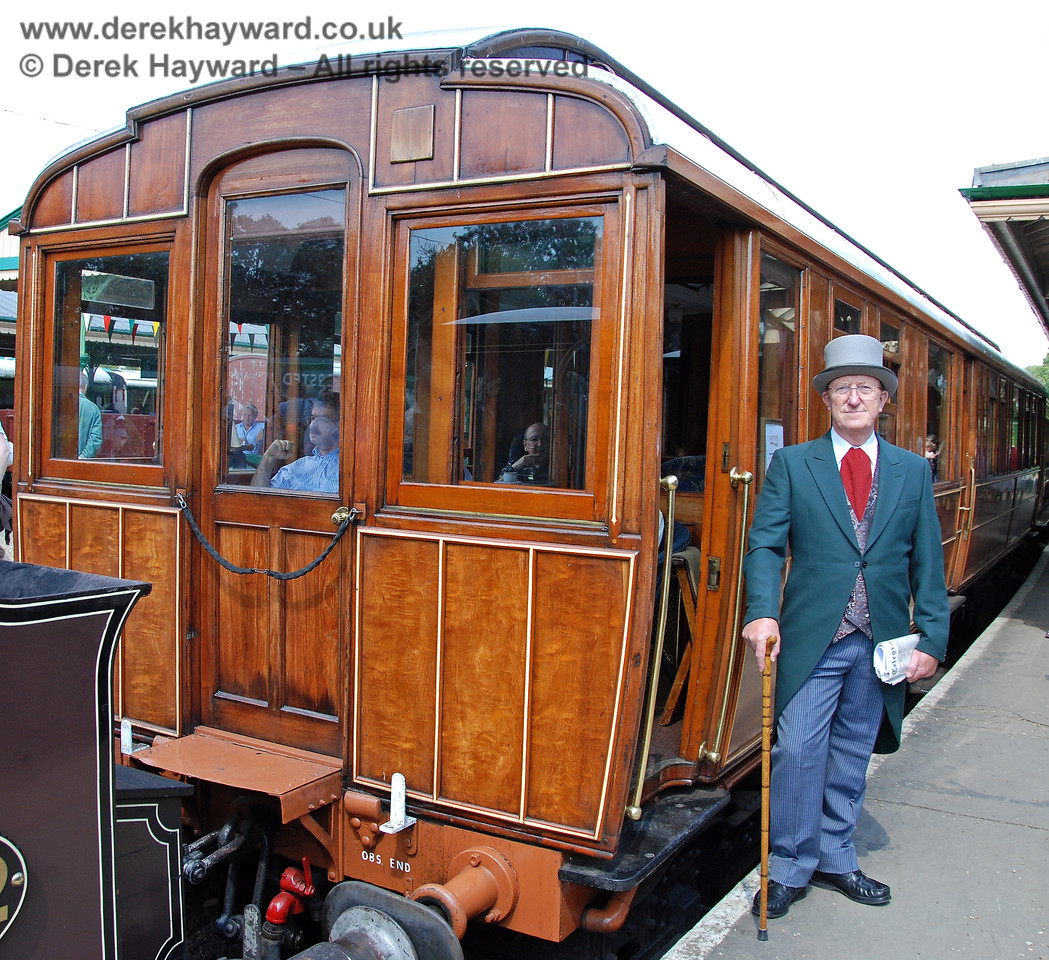 A very well turned out gentleman alongside the Directors Saloon.  Horsted Keynes 11.08.2007