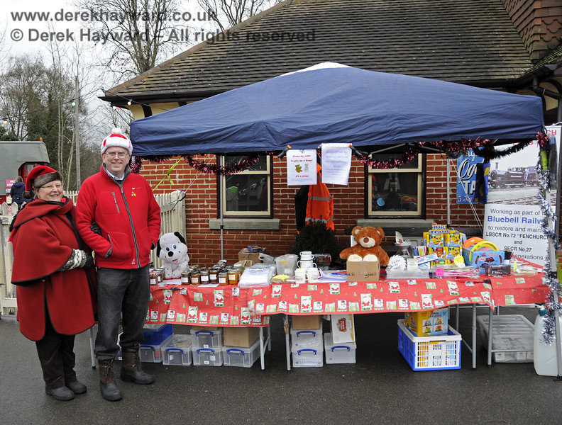 The Fenchurch Fund stand at Sheffield Park. 14.12.2013  9871