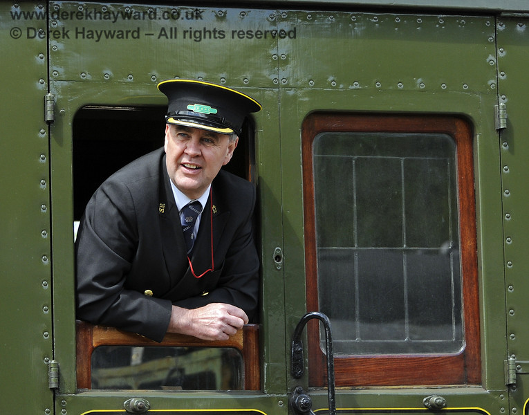 Fraser Hutchinson (in his role as Guard) pictured near Horsted Keynes.  12.05.2013  8765