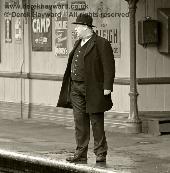 Tim Baker, Commercial Director, in Victorian mode at Horsted Keynes.  20.12.2013  8607