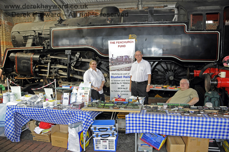 The Fenchurch Fund stall at the Model Railway exhibition.  Sheffield Park 29.06.2013  9197