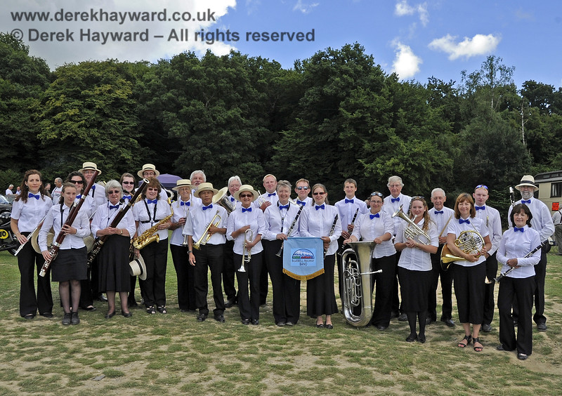 The Bluebell Railway Band at Horsted Keynes.  11.08.2013  7932