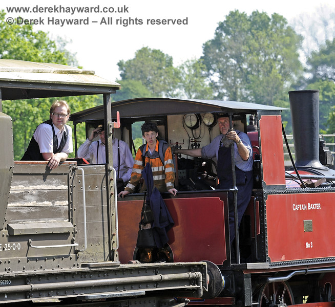 The crew of Baxter whilst brake van rides were in progress at Horsted Keynes.  18.05.2014  9431