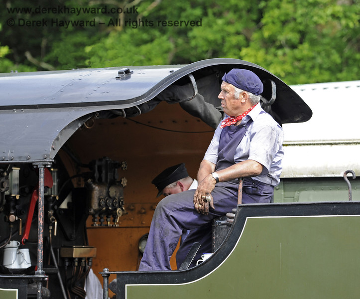 A member of the crew of 847 at Horsted Keynes. 08.06.2014  9583