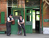 Station staff on duty at Horsted Keynes. 08.06.2014  9562