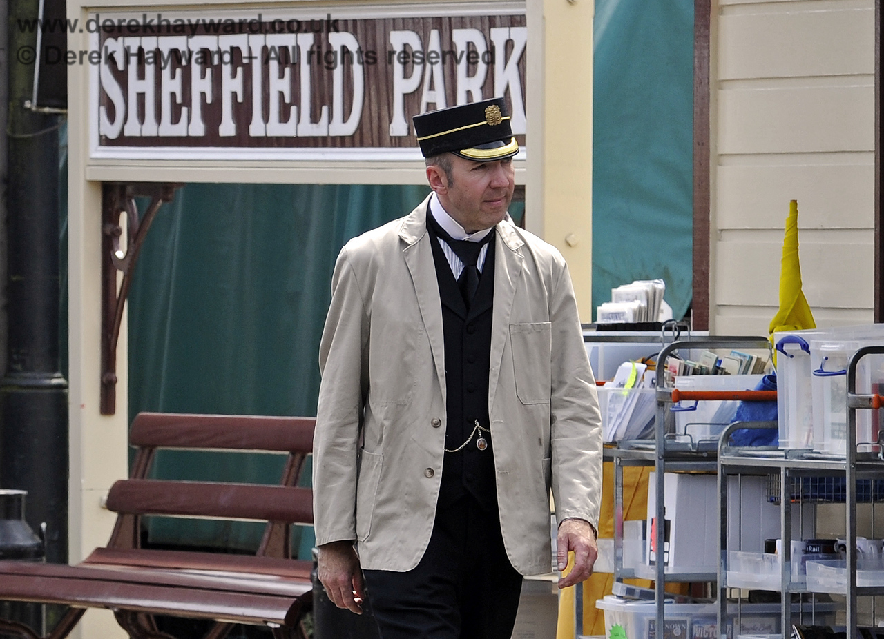 The Station Master at Sheffield Park.  12.07.2014  9871