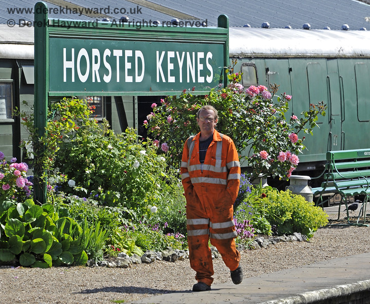 A member of the Orange Army at Horsted Keynes.  30.06.2013  7603