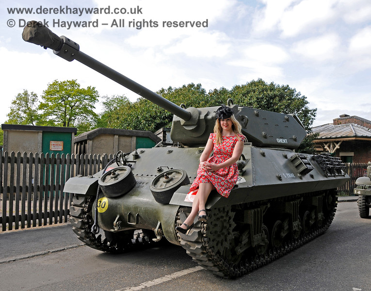 """I am absolutely NOT sitting on that tank...!!""  Louise at Horsted Keynes. 10.05.2015 12569"
