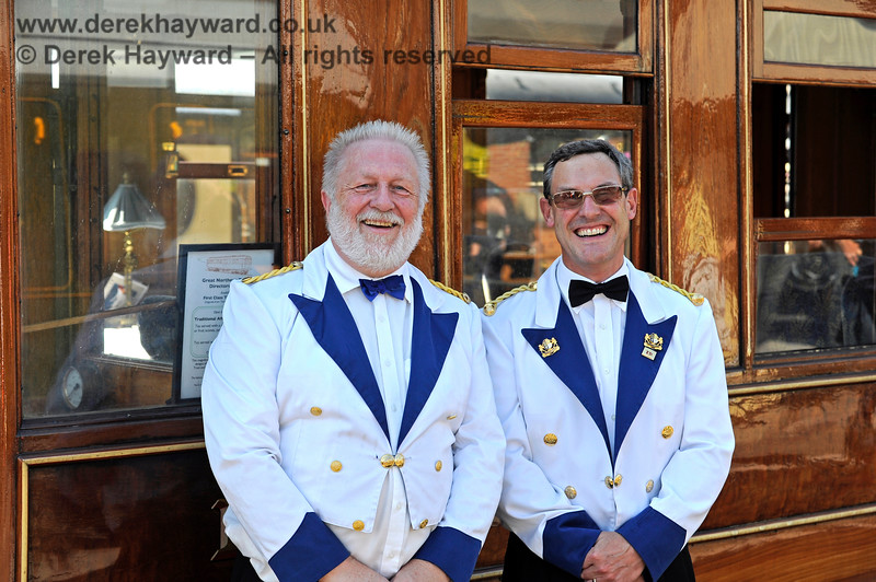 Stewards on the GN Saloon at Sheffield Park. 22.08.2015 11984